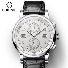 Часы LOBINNI мужские, деловые, модные, водонепроницаемые, 50 м(Китай)