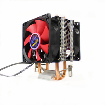 PC cooling universal AMD & Intel copper heatpipe CPU cooler with 2 dual fans