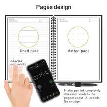 NEWYES A6 размер умный многоразовый стираемый ноутбук микроволновая волна облако стереть блокнот подкладка с ручкой сохранить бумагу(Китай)