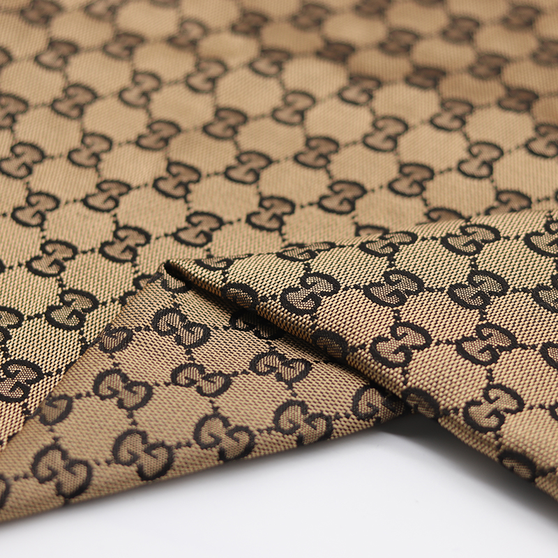 GG,Designer inspired fabric , Woven Textured Polyester Jacquard Upholstery Fabric for Bag and Shoes