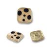 8898#Mat gold&Orange  18mm