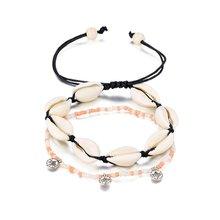 Новинка от Vienkim, винтажный крест-кулон в форме сердца, ножные браслеты для женщин, многослойные бусы, цепочка на лодыжку 2020, браслет на ногу, п...(Китай)