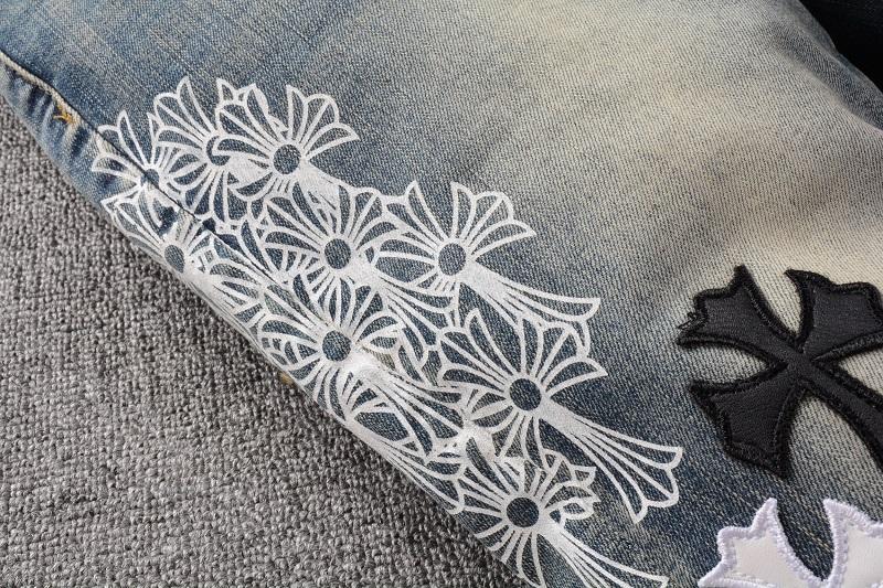 Fashion New Design amirys balmainys paris Hot-sell ripped vintage Elastic Breathable Long Pants Men's Denim jeans