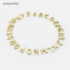 Gold plated smooth letter charms