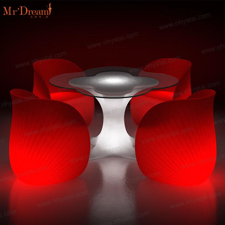 Обувь для ночного клуба с подсветкой Led стулья и настольной лампы RGB цвет светятся в темноте напольная Мебель адвокатского сословия комплект коммерческая мебель 2 лет