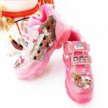 LOL Surprise Dolls/оригинальная женская спортивная обувь; модные повседневные Нескользящие кроссовки с рисунком для девочек; детские подарки на де...(Китай)