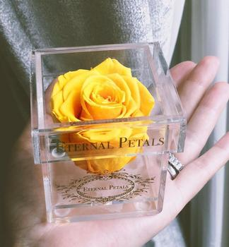 Hot sale acrylic preserved rose flower display box