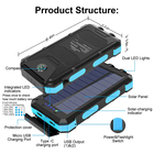 Usb Battery Solar Battery Charger Wholesale 2021 New High Capacity Portable Waterproof Solar Power Bank 30000mah Solar Usb Charger Solar Mobile Battery Chargers