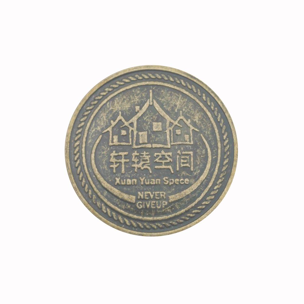 Металлический жетон Zhutong из нержавеющей стали для аркадных игр