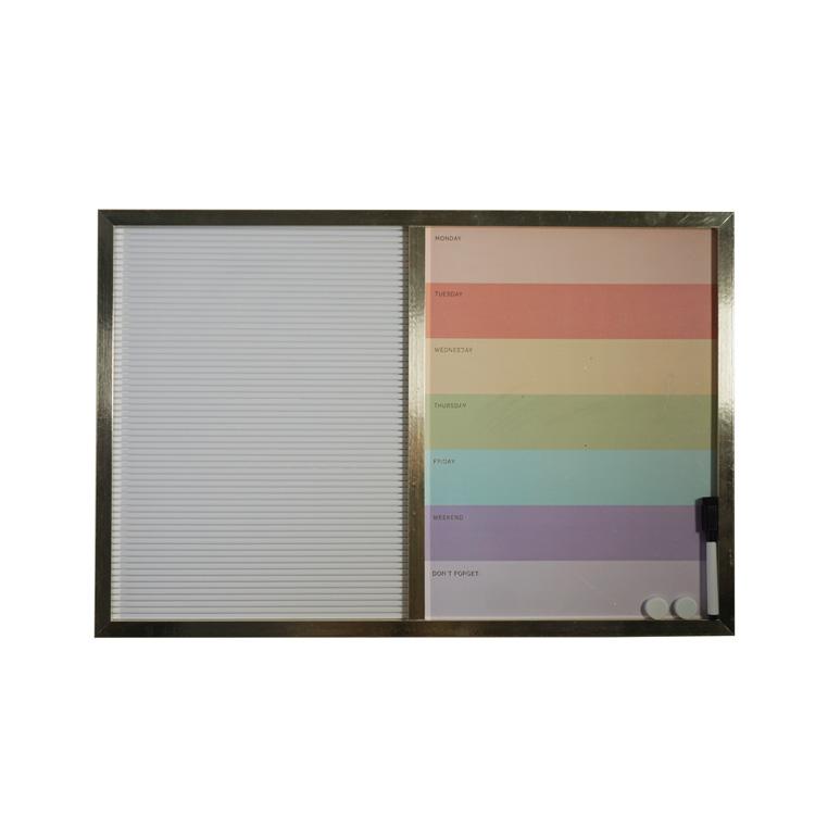 Fridge Magnetic Acrylic Memo Erase Board Wall Decoration With Five Transparent Needles - Yola WhiteBoard   szyola.net