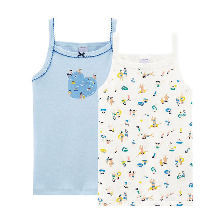 Custom Knitted Singlet Children Camisole Kids Tank Crop Girls Sleeveless Undershirt Vest Top Wear Breathable/Sweat Releasing