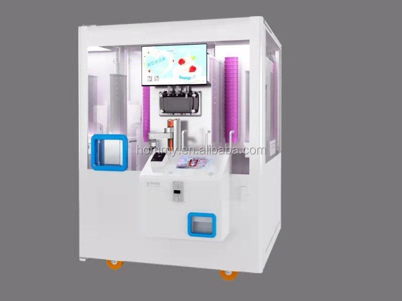 2021 новый дизайн робот рука управляется мороженое торговый автомат мягкое мороженое замороженный йогурт видео техническая поддержка, онлайн поддержка