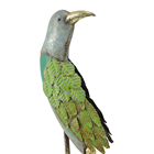 Metal Decoration Metalmetal Hengfa Metal Animal Bird Metal Seasonal Garden Decoration Metal Table Decor Green Bird