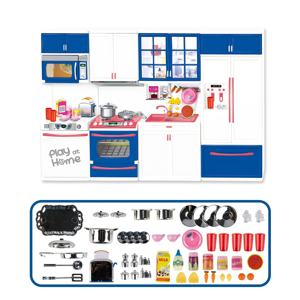 Hot Selling Children Pretend Role Play Kids Play Set Kitchen Toy Realistic Family Kitchen Toy Set