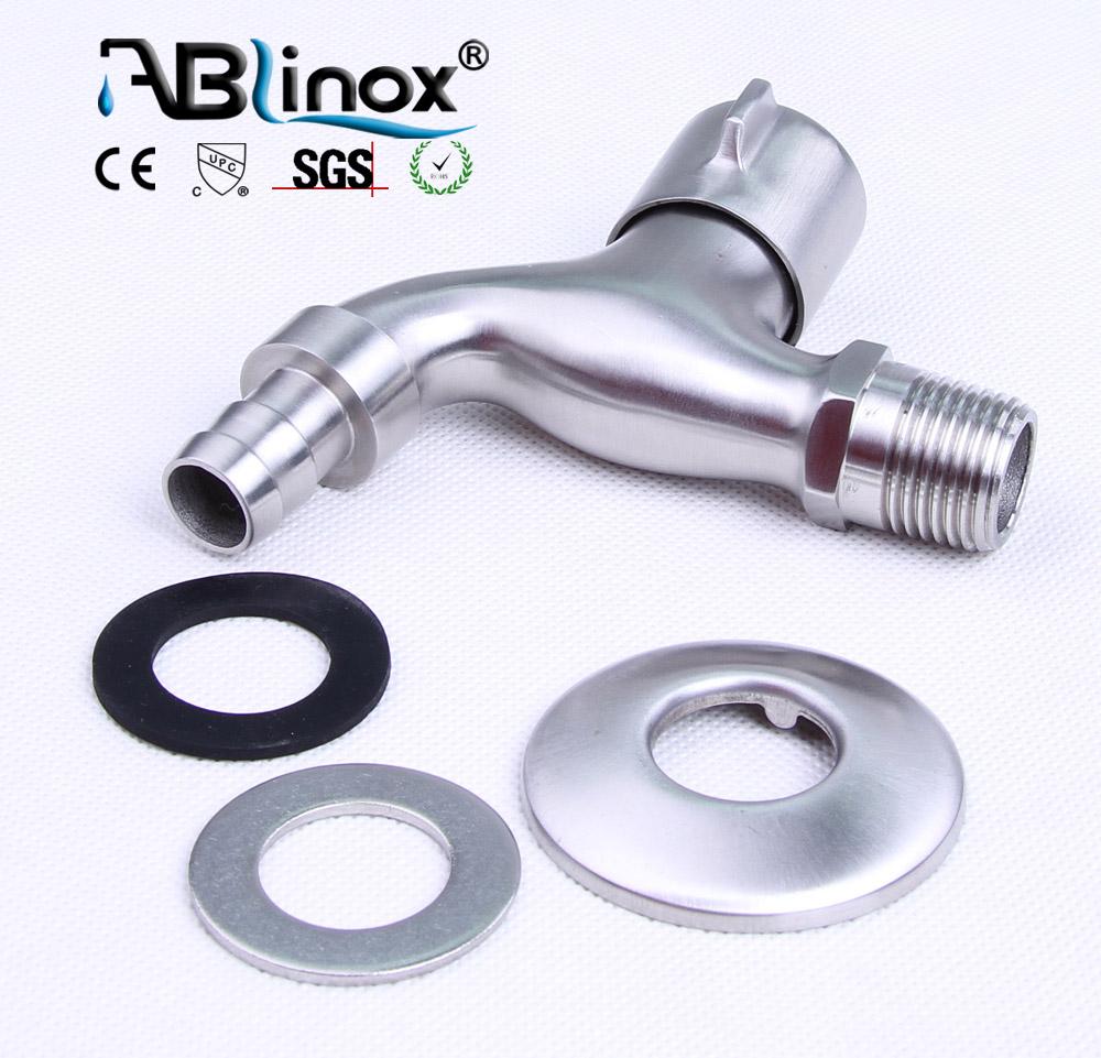 ABLinox высококачественный смеситель из нержавеющей стали, настенный смеситель для ванной комнаты