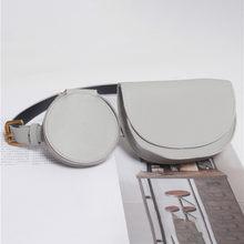 Женская поясная Сумка, кожаный модный поясной ремень, комплект из 2 предметов, поясная Сумка для женщин, Сумка в стиле Харадзюку(Китай)