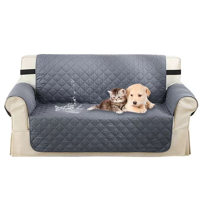 Stretch Quilted Sofa Covers for Dogs Pets Kids Anti-Slip Couch Recliner