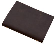Чехол для ноутбука из натуральной кожи A5, 100 листов, дневник свободного листа, Дневник для путешествий, дневник из коровьей кожи, записная кн...(Китай)