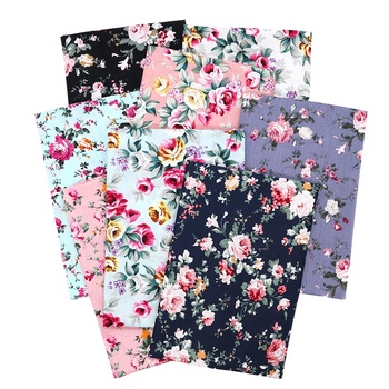 By The Meter Rose Flower Floral Printed Quilting Woven Poplin 100% Cotton Prints Fabric For Face Mask Dress Bags
