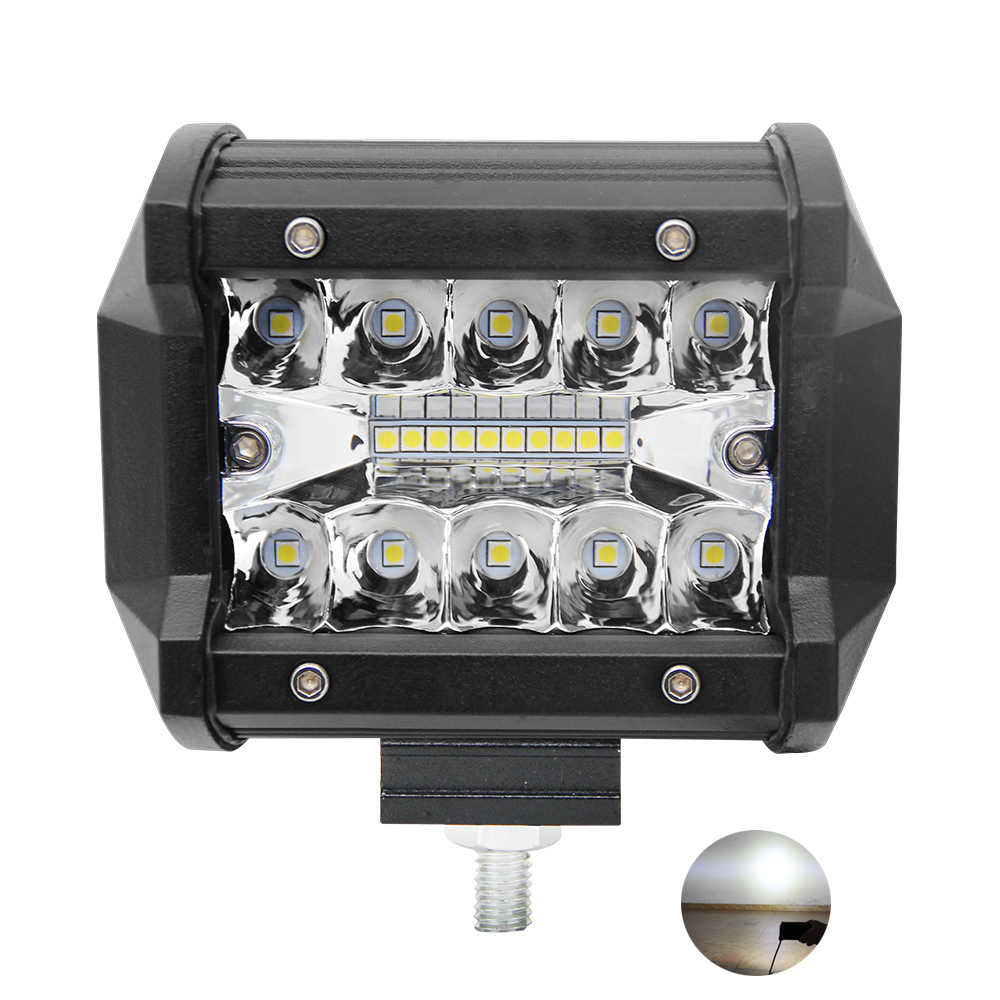 Truck Accessories laser offroad dual row led light 60w spot led work light lamp for car led fog light 4 inch LED Pod