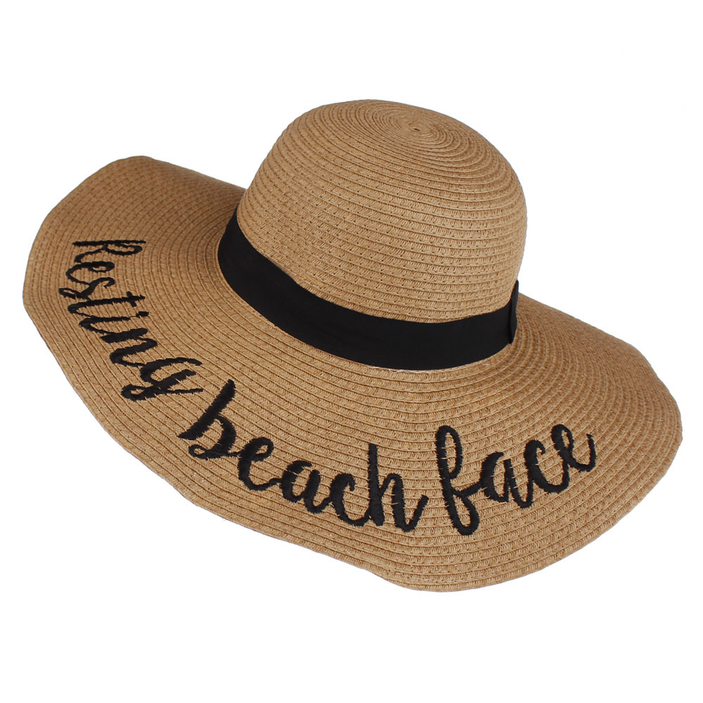 2021 most favorable Wholesale Lady Flat Brim bucket Straw Hat floppy Paper Straw Hat for women