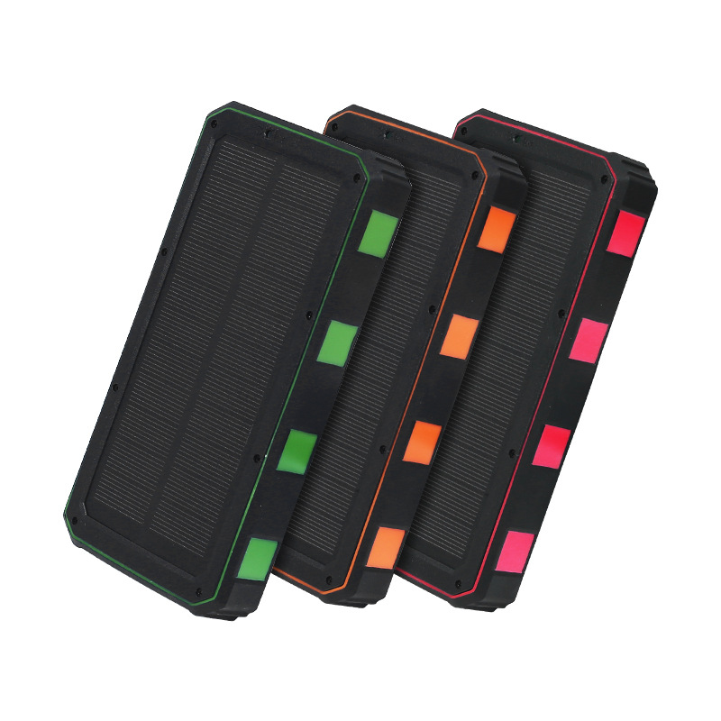 Direct from manufacturer waterproof solar charger panel  powered rugged power bank portable 20000mah solar with led light