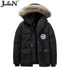 Jacket 2020 Fashion Wind Breaker Hoodie Outdoor Black Men Long Jacket