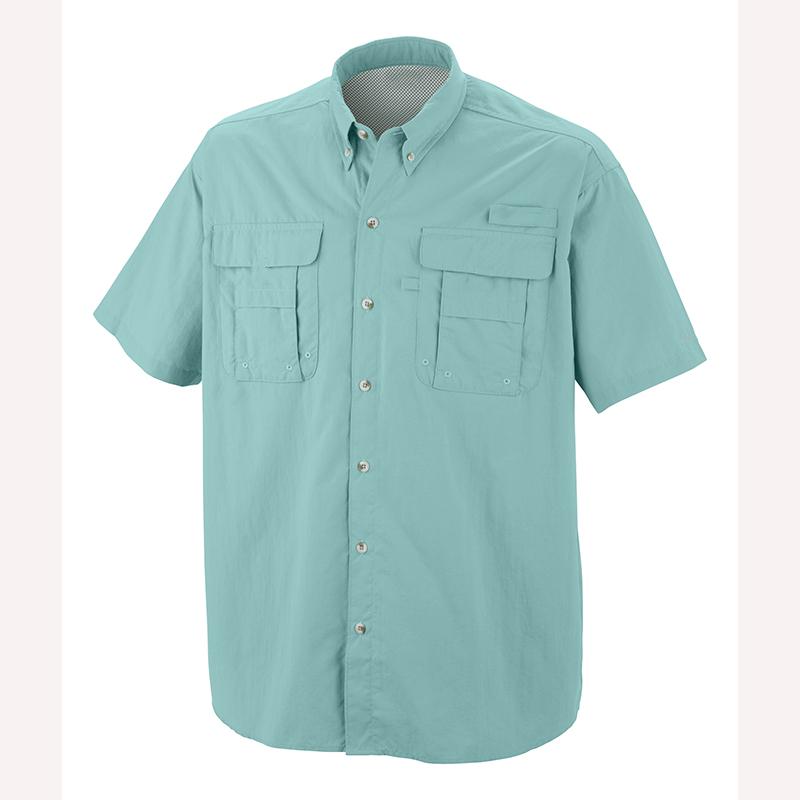 Мужская дышащая рыболовная рубашка с коротким рукавом и УФ-защитой