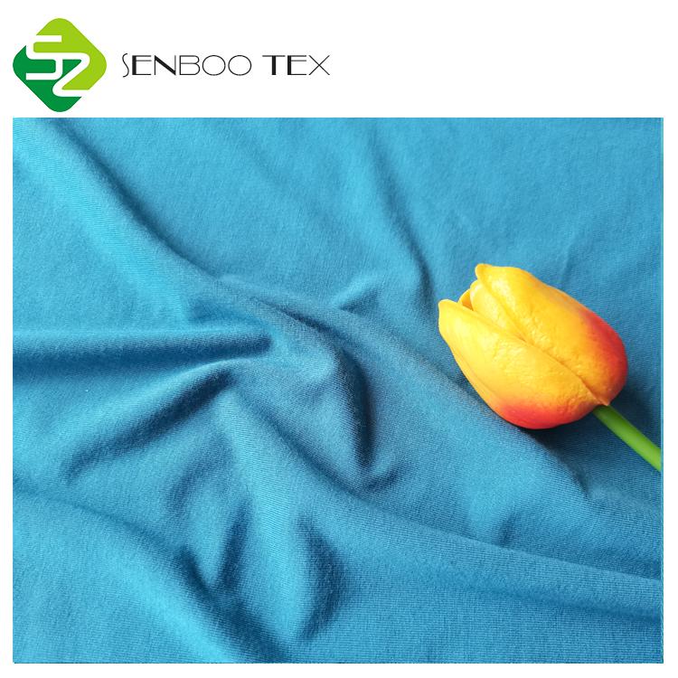 Без azо на основе бамбукового волокна, возможность изготовления в соответствии с индивидуальными требованиями клиента оптовая продажа 95 органическое бамбуковое 5 спандекс 180 ~ 220gsm трикотажные ткани для новорожденных