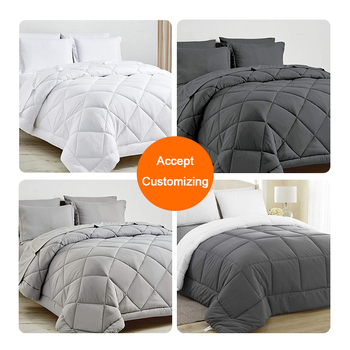 Custom King Queen Single Size White Hotel Bedroom Comforters Duvet Down Alternative Bed Duvet