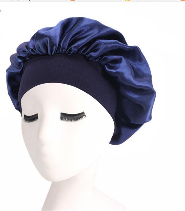 Women Silky One Layered Satin Sleep hat  with Premium Elastic Band- bandana