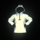 Wholesale Mens Blank Reflective Pullover Windbreaker Jacket