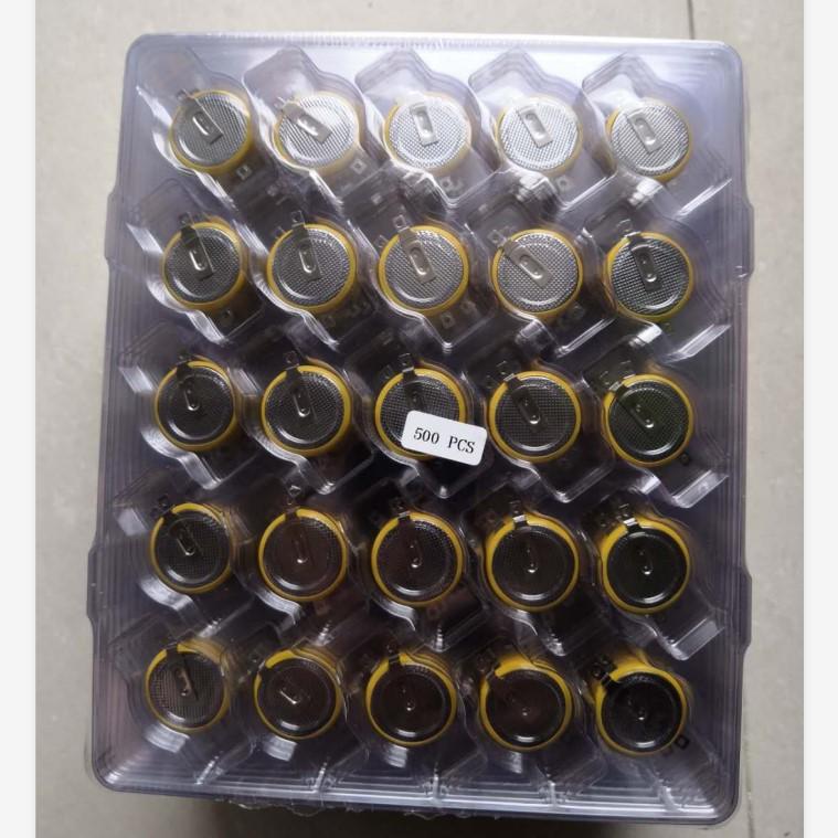 Упаковка в блистерный лоток для батареи кнопок CR2016, CR2025, CR2032, CR1632, CR1616, CR1620