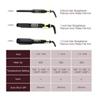 Hair Flat Iron Hair Straightener Hot Sales Nano Titanium Hair Straightener And Private Label Ceramic Flat Iron