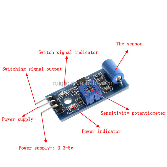 normally closed type vibration sensor module Alarm sensor module Vibration switch SW-420
