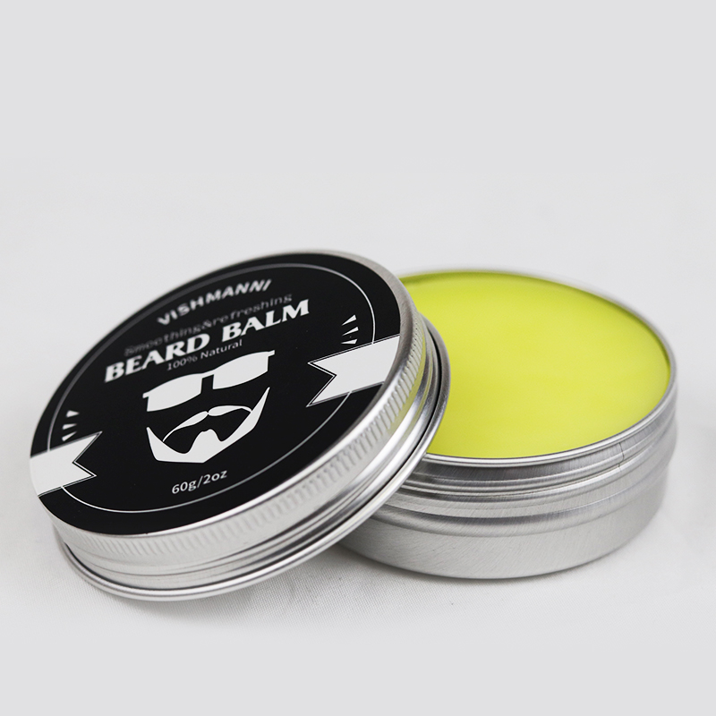 China Manufacturer Supply Unscented&Scented Beard Balm For Men Barber Softens