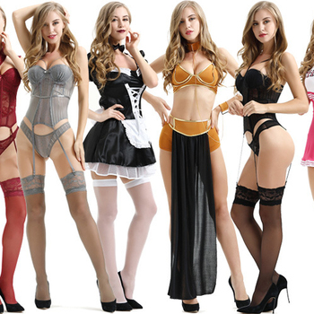 Women role-playing game uniforms Lace cat women clothing Sexy Ladies erotic lingerie