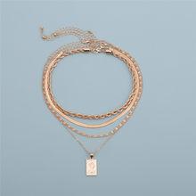 Готическая многослойная железная цепочка-чокер в виде змеи, ожерелье для женщин и мужчин, резные портреты, длинная цепочка, колье, ювелирные...(Китай)