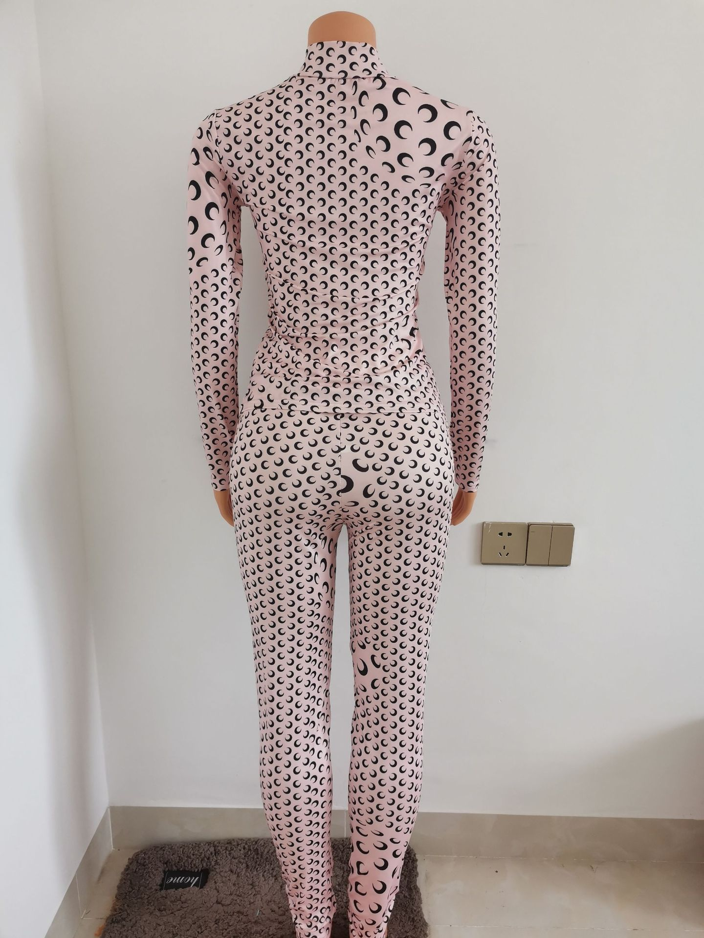 M1049 Moon printed outfits XS 2 piece set fall women fashion clothing