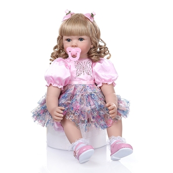 60cm Reborn Doll Toddler Soft Silicone Vinyl Limbs Princess Bebe Girl Lovely Birthday Gift high quality Play House Toy