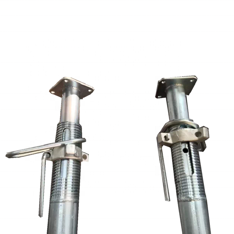 Galvanized adjustable steel Scaffolding prop sleeve Metal adult shoring props construction concrete supports screw jack post