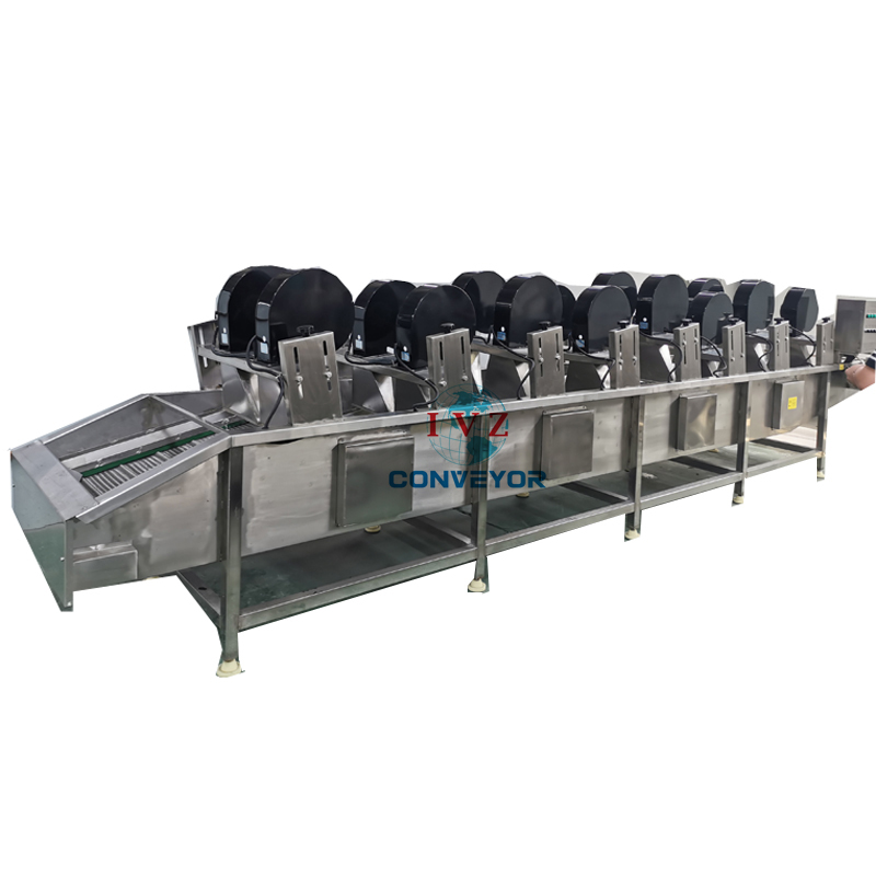 Drying Conveyor With Air Fan For Ozone Bubble Washing Machine