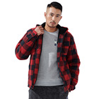 New Fashion Hot Selling Mens Plaid Sherpa Lined Hoody Plaid Jacket