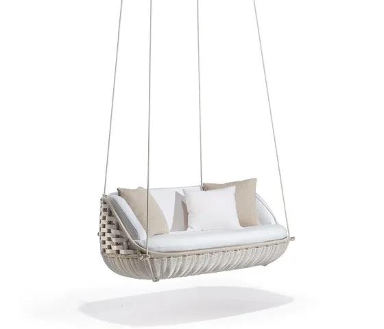 Мебель из ротанга, современный уличный диван-качалка с веревкой