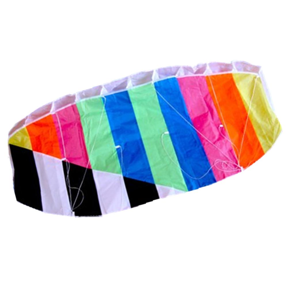 Inflatable parachute parafoil stunt kite surf