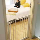 Retractable Gate Household Punch-free Retractable Baby Gate Pet Gate 180 Degrees Open Double Lock Baby Safety Gate//