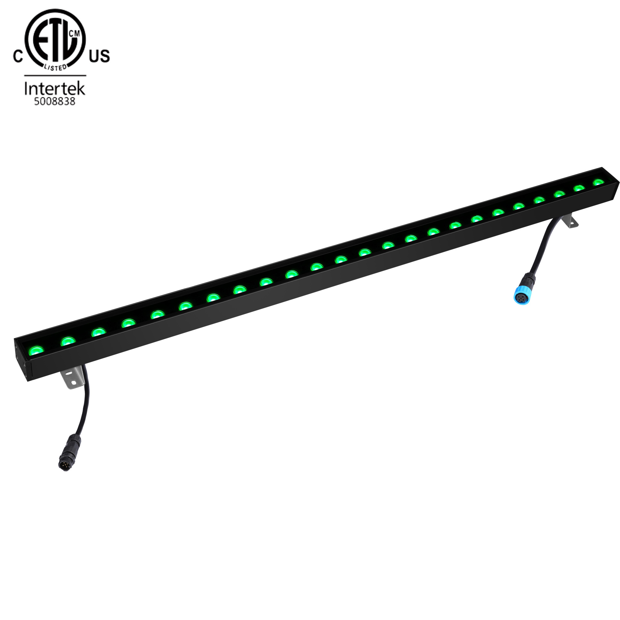 High Brightness External Slim RGB Colorful DMX512 25W 50W Led Wall Washer Light For Hotel Lighting
