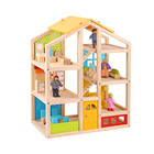 Furniture Toy Kids Toy New Design Happy Family Furniture Kids DIY Wooden Toy Crib Doll House