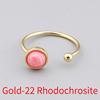 Gold-22 Rhodochrosite