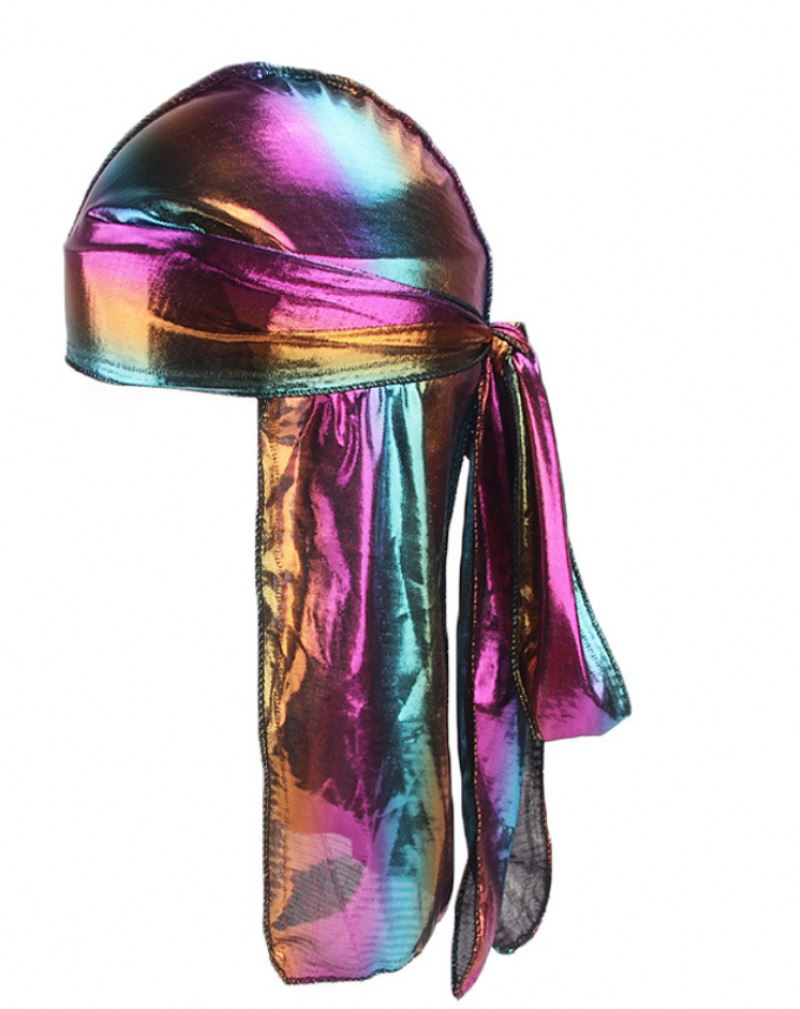 Лазерная шляпа для сна шелковистая длинная Хвостовая широкая Полиэстеровая Пиратская Кепка с широкими волнами